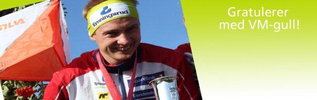 Gratulerer, Olav Lundanes, med gull i VM